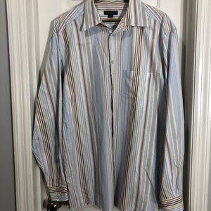 Ermenegildo zegna long sleeve button shirt XL